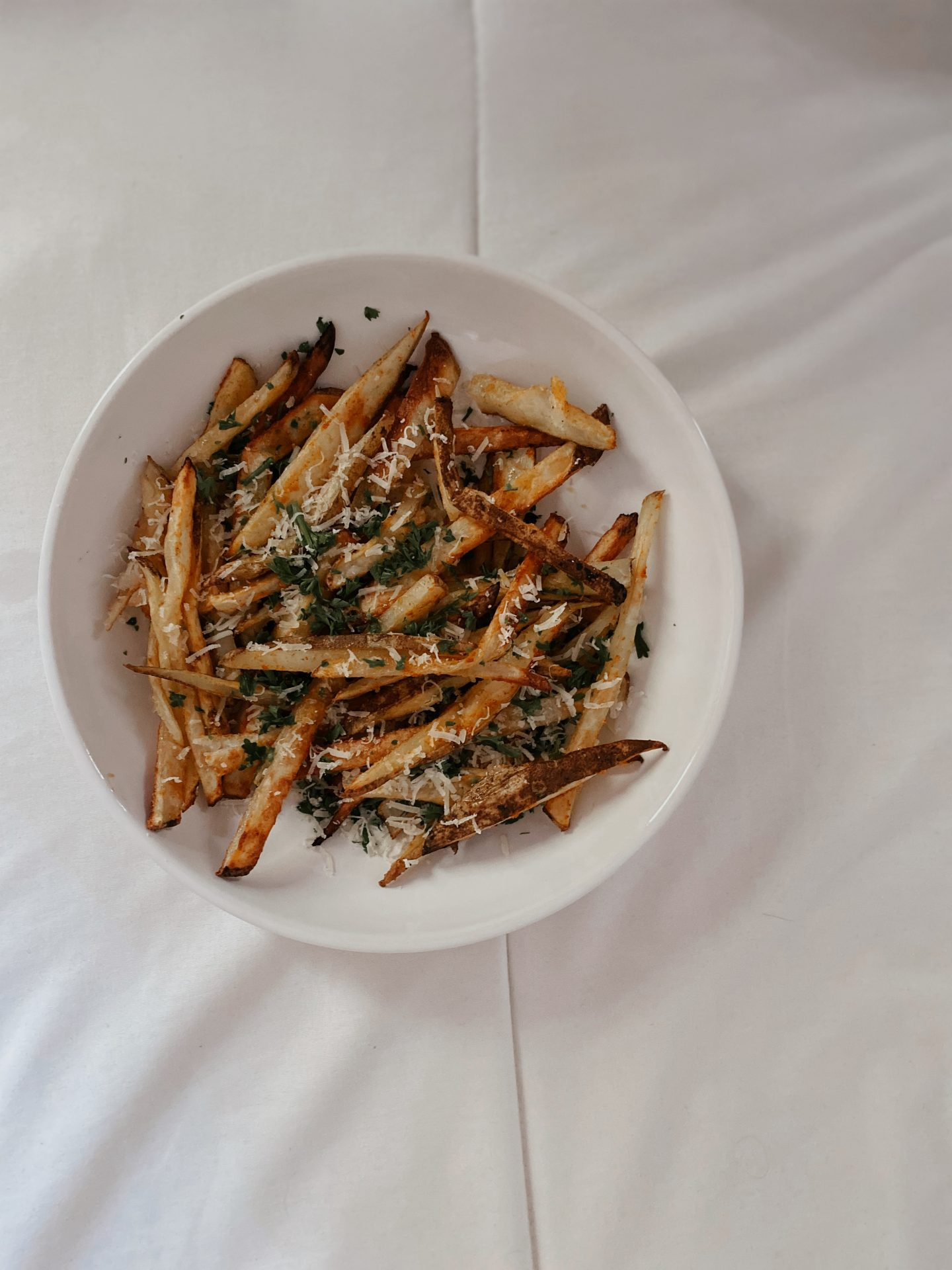 Parmesan Parsley Oven Baked Fries